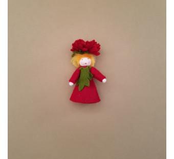 Seasonal doll Michaelmas Daisy Boy