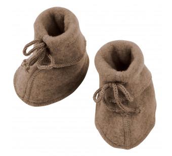 Engel woolfleece booties Walnut