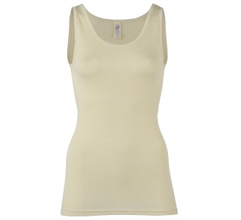 Engel wool silk sleeveless shirt natural