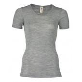 Engel wool silk short sleeved shirt soft grey