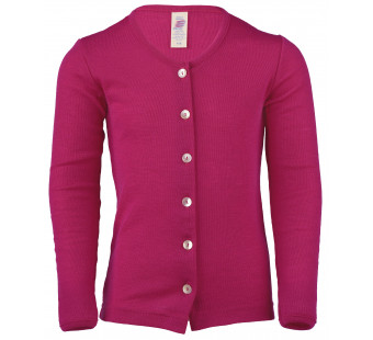 Engel wool silk cardigan Raspberry