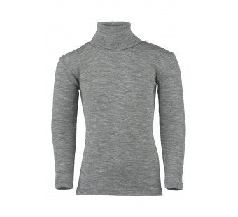 Engel wool silk longsleeve poloneck light grey