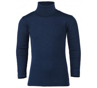 Engel wool silk longsleeve poloneck navy