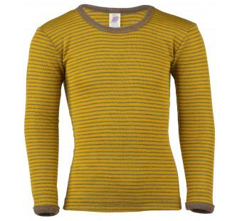 Engel wool silk longsleeve Saffron Walnut