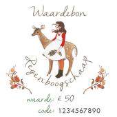 Waardebon €50 voor Regenboogschaap (digitaal)