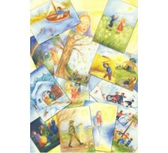 Set of 12 cards by Ilona Bock