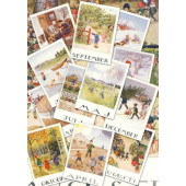 Set van 12 maandkaarten Elsa Beskow