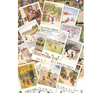 Set of 12 cards months of the year - Elsa Beskow