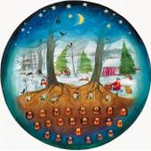 Advent calendar round Such mit mir die rechte Tur - Ott Heidmann