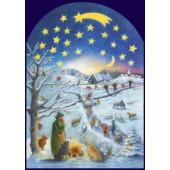 Adventskalender groot Gerstenmaier - Winterzene