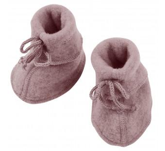 Engel woolfleece booties rosewood