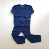 Cosilana wollfrottee 2 delige pyjama navy