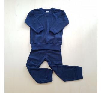 Cosilana wolfrottee 2 delige pyjama navy (45291)