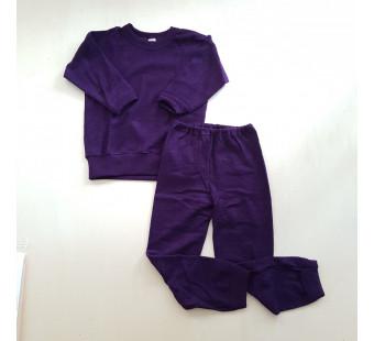 Cosilana wollfrottee pyjama donkerpaars