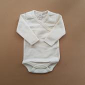 Lilano wool silk wrap around body natural