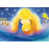 Poster A4 The birth of Jesus (Baukje Exler)