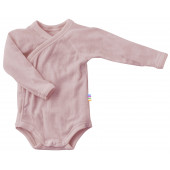 Joha merino woolen wrap around body long sleeved pink (66343)