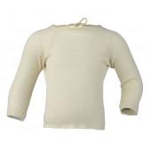 Engel wrap over vest long sleeved wool silk natural