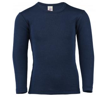 Engel wool silk longsleeve Navy