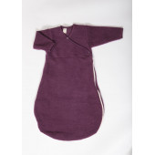 Lilano brushed woolen sleeping bag purple
