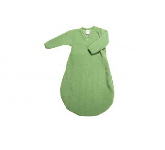 Lilano wollfrottee slaapzak groen