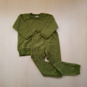 Cosilana wollfrottee 2 delige pyjama groen (42591)