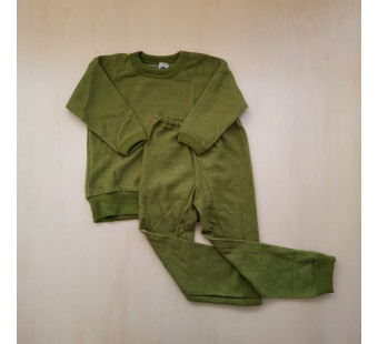 Cosilana woolen 2 piece pyjama green