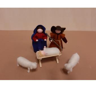 Seasonal dolls Christmas set Joseph and Mary