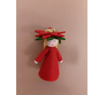 Seasonal doll poinsettia  girl