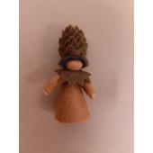 Seasonal doll Pine Cone brown hair