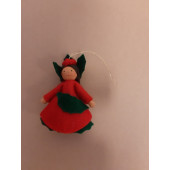 Seasonal doll Ilex girl hanging 1