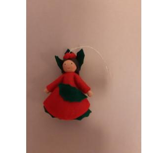 Seasonal doll Ilex girl hanging 2