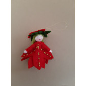 Seasonal doll Poinsettia hanging