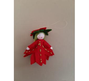 Seasonal doll Poinsettia hanging