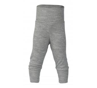 Engel wool silk pants light grey melange