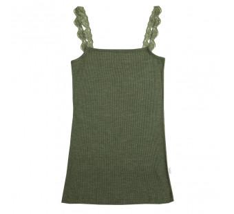 Joha wool silk sleeveless shirt navy