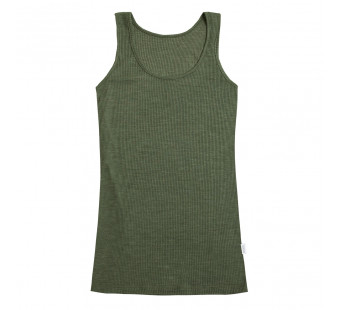 Joha wool silk tanktop dark green (12363)