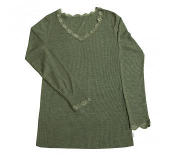Joha wool silk longsleeve green