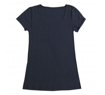 Joha woolen short sleeve shirt navy (70603)