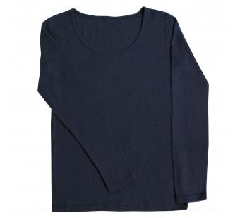 Joha woolen long sleeve shirt navy (10605)