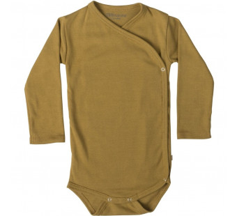 Minimalisma cotton long sleeved wrp around body golden leaf