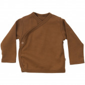 Minimalisma cotton wrap around shirt amber