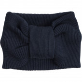 Minimalisma 70% silk and 30% kcotton head band dark blue