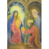 Postkaart de heilige drie koningen