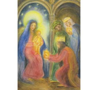 Postal card Three holy Kings