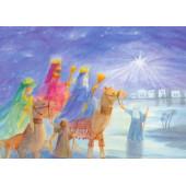 Postkaart Drie koningen op reis D Schmidt