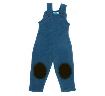 Reiff woolfleece dungarees blue