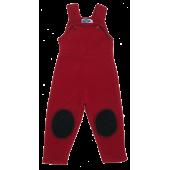 Reiff woolfleece dungarees red