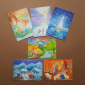 Set of 15 cards made by Dorothea Schmidt