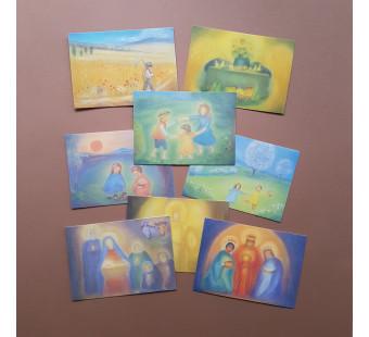 Set of 12 cards made by Elsasser